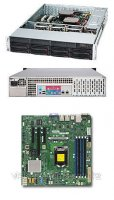 Supermicro X11SSL-F/SC825TQC-600LP Black 1220